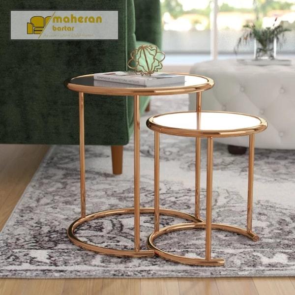 تولید و فروش میز عسلی استیل لوکس سالویا