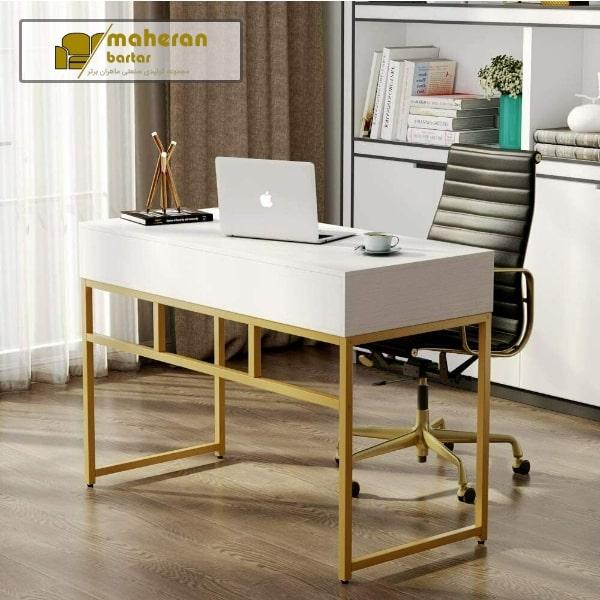 قیمت میز آرایش استیل شیک و خاص سفید طلایی