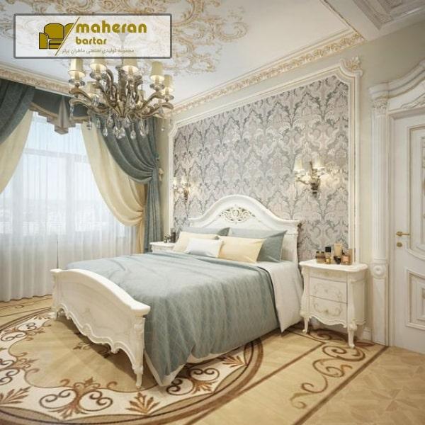 دیزاین مدرن و لاکچری اتاق خواب عروس