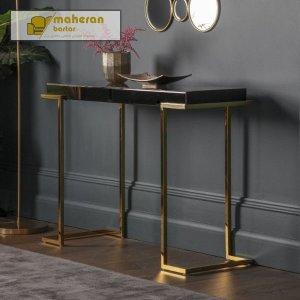 خرید میز کنسول استیل طلایی مدرن