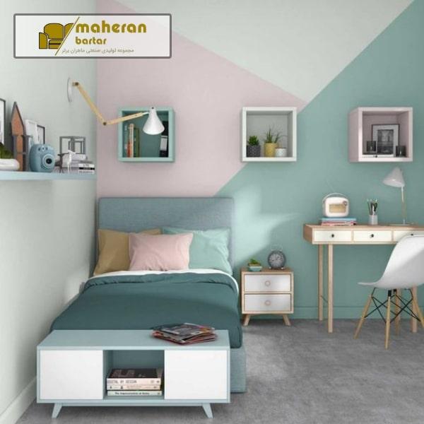نمونه عکس اتاق خواب دخترانه لاکچری شیک